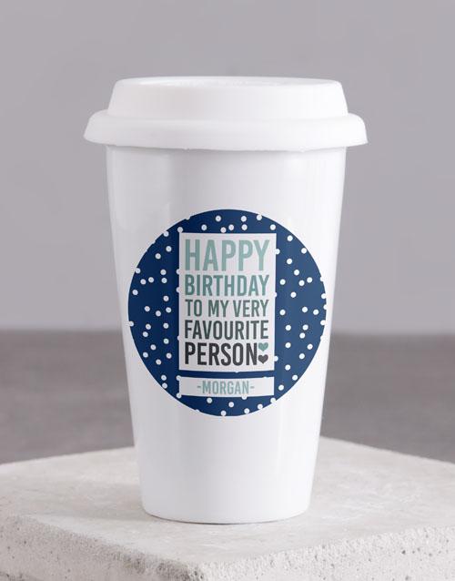 personalised: Personalised Favourite Person Ceramic Travel Mug!