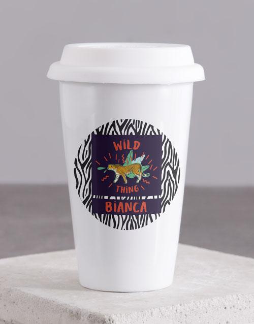personalised: Personalised Wild Thing Ceramic Travel Mug!