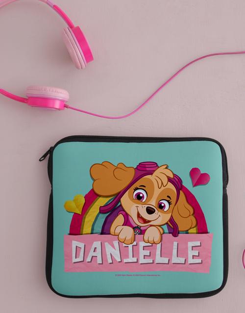 kids: Personalised Pink Paw Patrol Kids Tablet Cover!