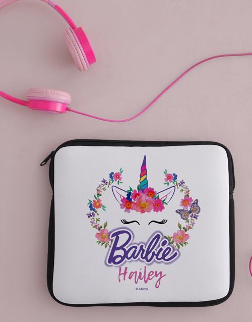 personalised: Personalised Barbie Unicorn Kids Tablet Cover!