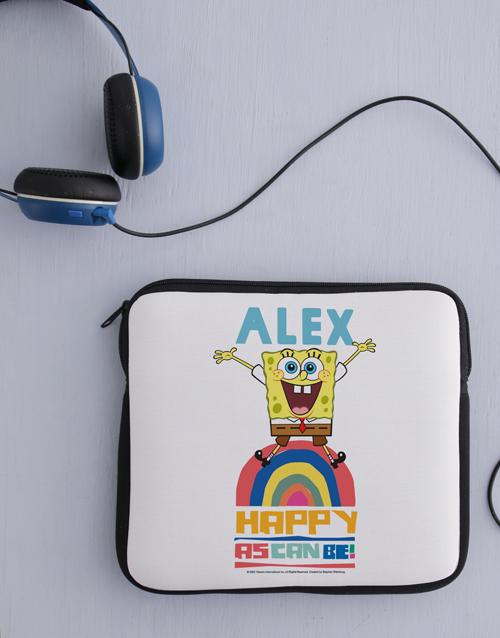 christmas: Personalised Happy SpongeBob Kids Tablet Cover!