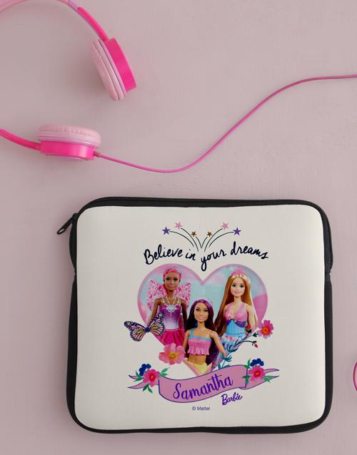 christmas: Personalised Barbie Dreams Kids Tablet Cover!