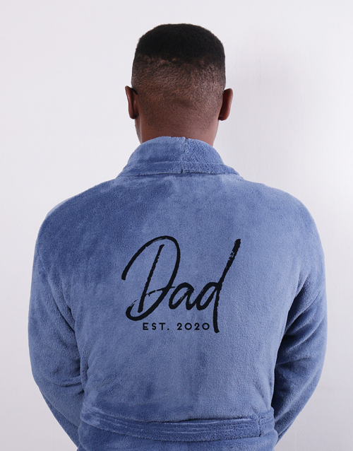 fathers-day: Personalised Dad Since Blue Gown!