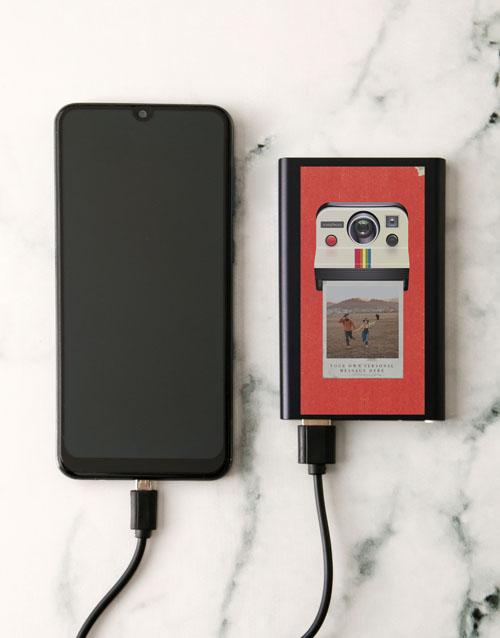 christmas: Personalised Polaroid Black Powerbank!