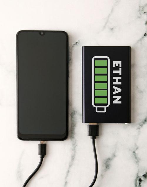 birthday: Personalised Battery Black Powerbank!