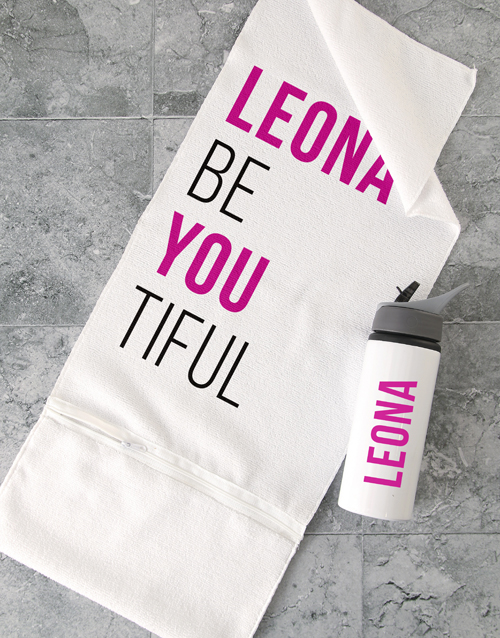 mothers-day: Personalised BeYouTiful Gym Towel Set!