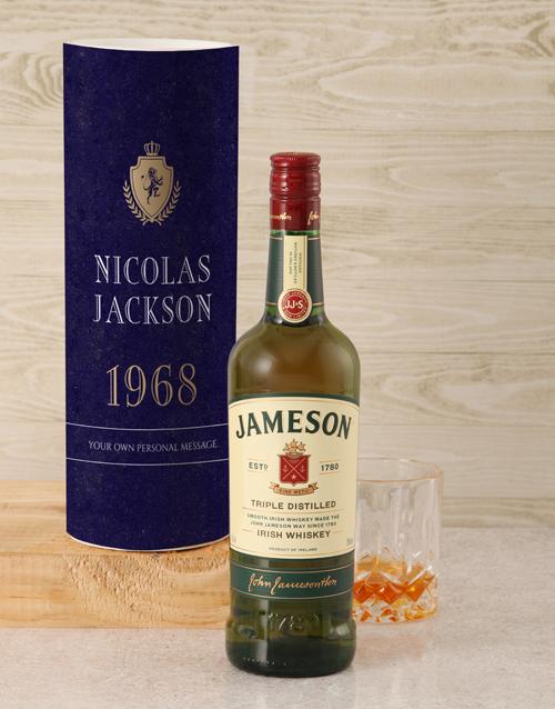 personalised: Personalised Jameson Whiskey Classic Tube!