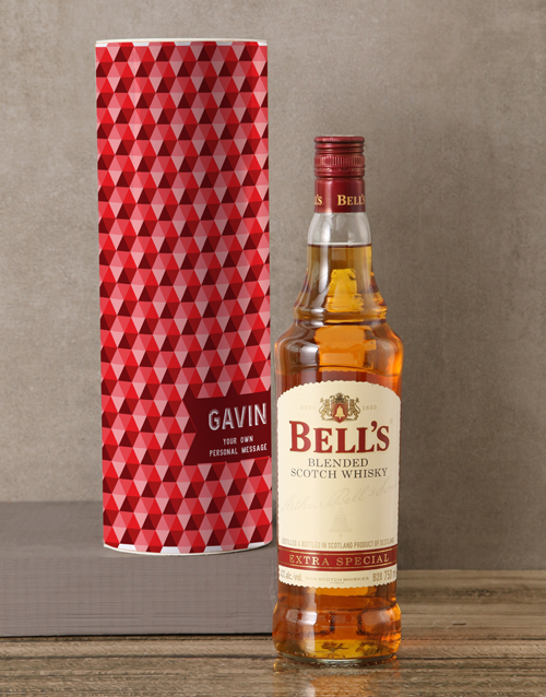 love-and-romance: Personalised Bells Whisky Tube!