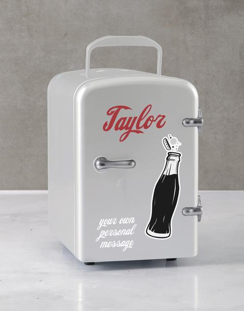 birthday: Personalised Cola White Desk Fridge!