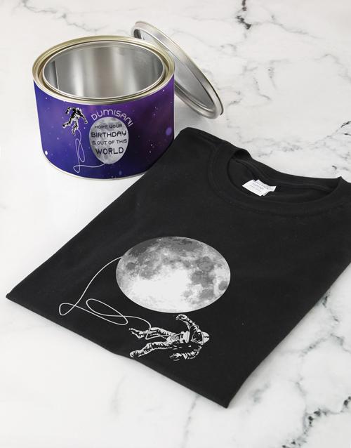 clothing: Personalised Interstellar Birthday T Shirt Tin!