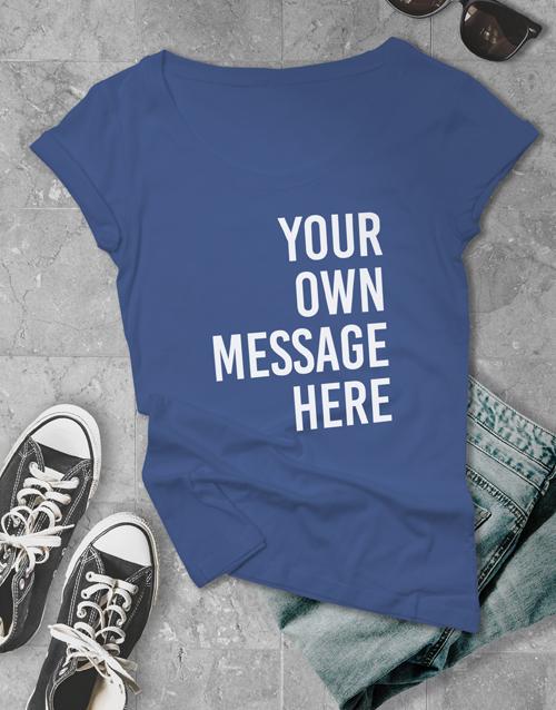 personalised: Personalised Royal Blue Ladies T Shirt!