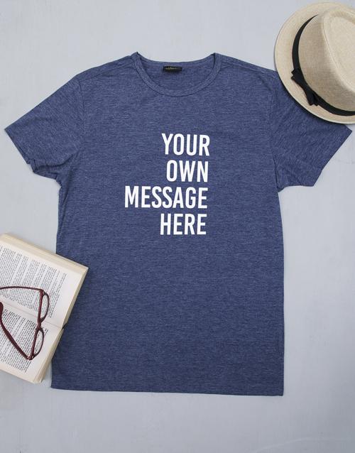 personalised: Personalised Navy Mens T Shirt!