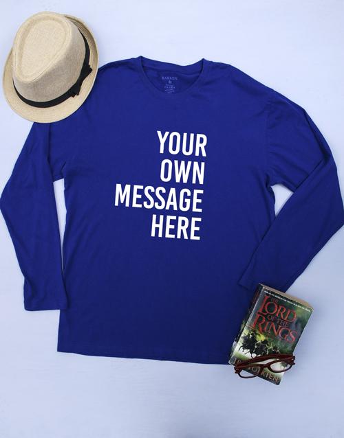 clothing: Personalised Blue Mens T Shirt!