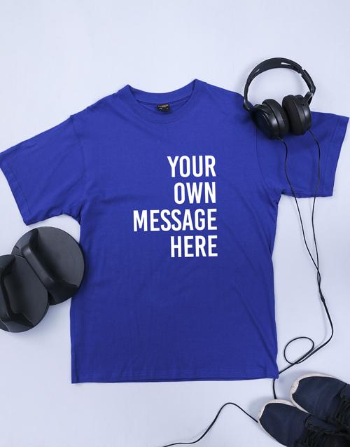 personalised: Personalised Royal Blue Mens T Shirt!