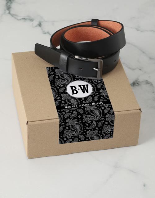 birthday: Personalised Black Paisley Belt Box!