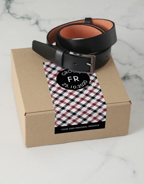 apparel: Personalised Black Crossed Belt Box!