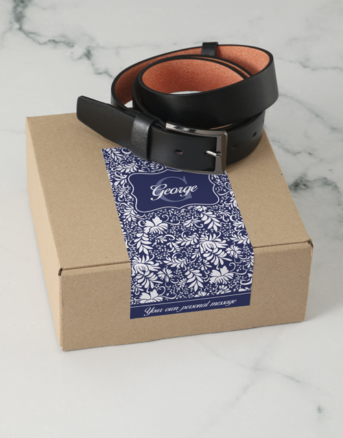 bosses-day: Personalised Navy Floral Belt Box!