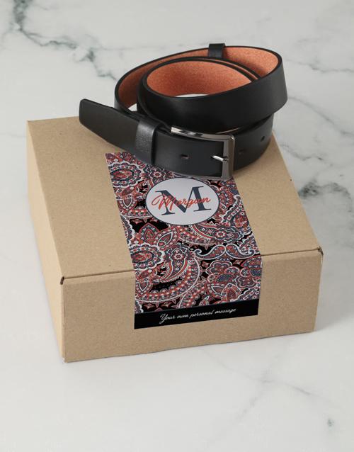 birthday: Personalised Black Floral Belt Box!