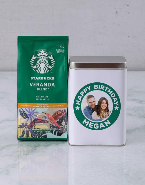 personalised: Personalised Starbucks Birthday Coffee Tin!