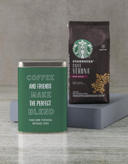 personalised: Personalised Starbucks Friendship Coffee Tin!
