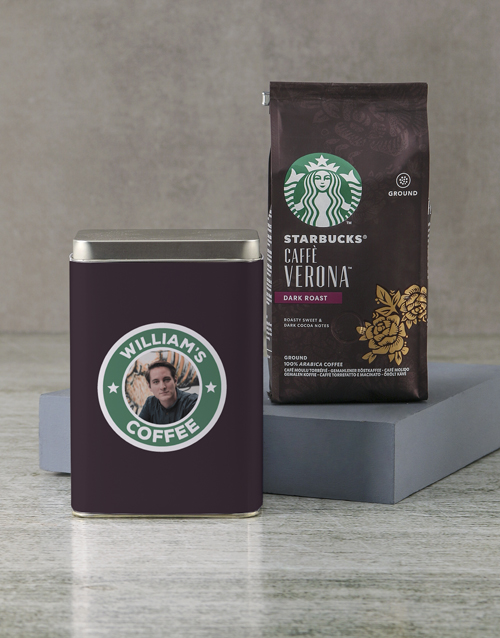 personalised: Personalised Starbucks Coffee Tin!