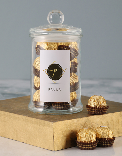 fathers-day: Personalised Name Ferrero Candy Jar!