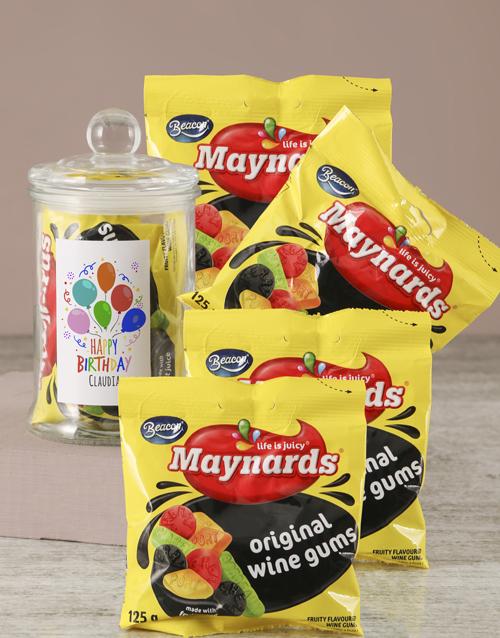 personalised: Personalised Birthday Maynards Candy Jar!