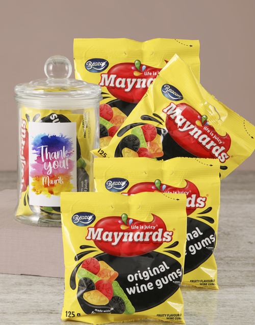 personalised: Personalised Thank You Maynards Candy Jar!