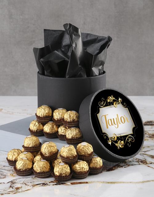 personalised: Personalised Elegant Ferrero Rocher Hatbox!