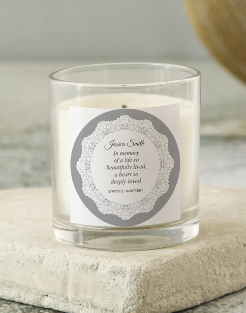 prices: Personalised In Loving Memory Scroll Candle!