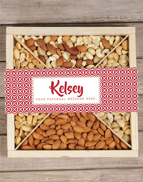anniversary: Personalised Red Nut Tray!