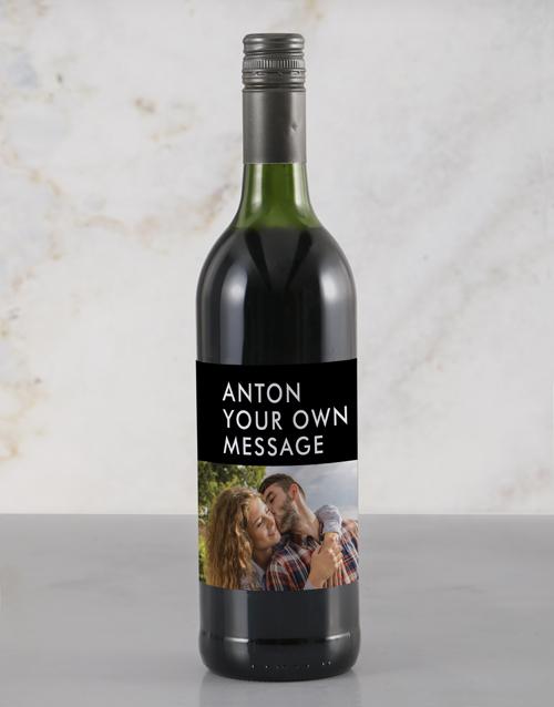 valentines-day: Personalised Stylish Photo Rietvallei Wine!