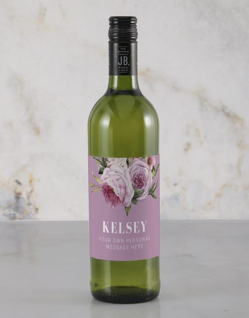 mothers-day: Personalised Pretty and Pink Rietvallei Wine!