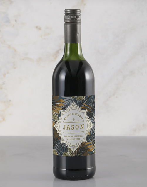 personalised: Personalised Birthday Antique Rietvallei Wine!