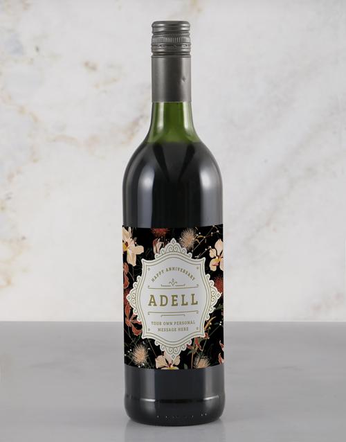 personalised: Personalised Elegant Anniversary Wine!