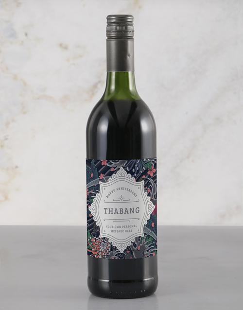 personalised: Personalised Refined Anniversary Wine!