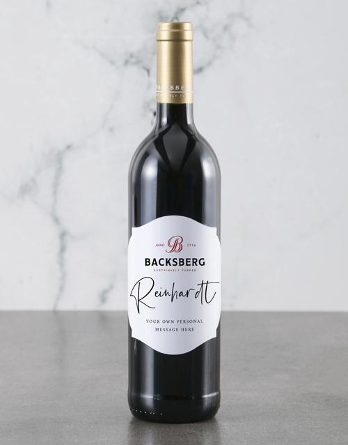 love-and-romance: Personalised Backsberg Wine Bottle!
