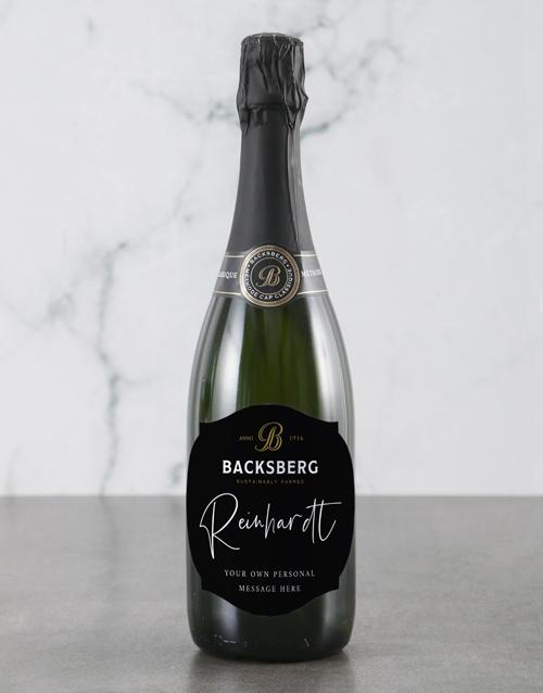 valentines-day: Personalised Regal Backsberg Wine!