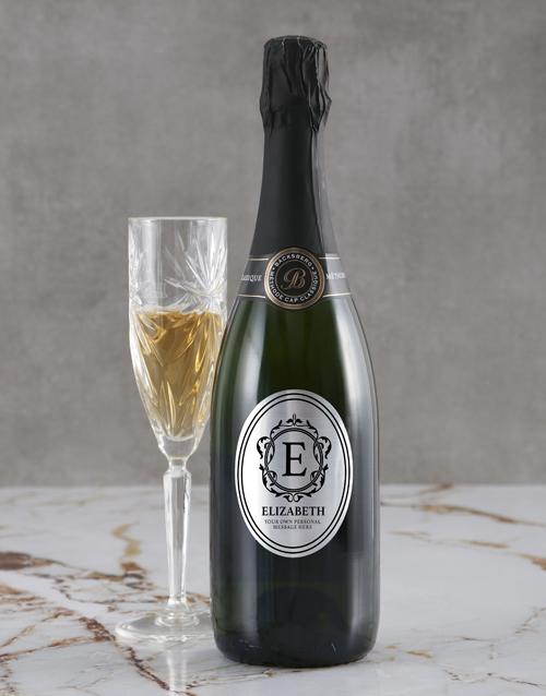 mothers-day: Personalised Elegant Monogram Backsberg Wine!