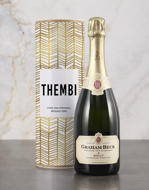 personalised: Personalised Refined Gold Bubbly Tube!