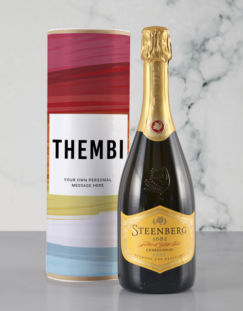 personalised: Personalised Colourful Canvas Bubbly Tube!