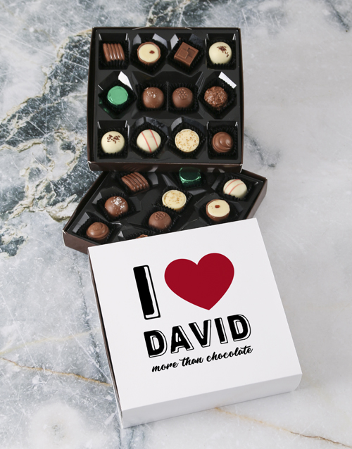 valentines-day: Personalised Love You Double Choc Tray!