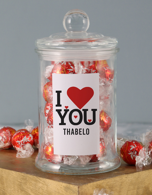 valentines-day: Personalised Love You Lindt Jar!