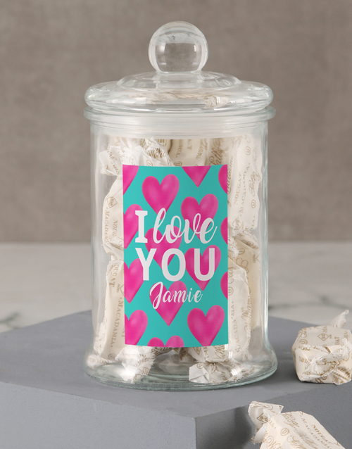 valentines-day: Personalised I Love You Sally Williams Jar!