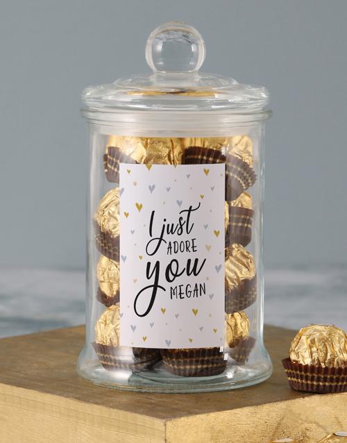 personalised: Personalised Adore You Ferrero Jar!