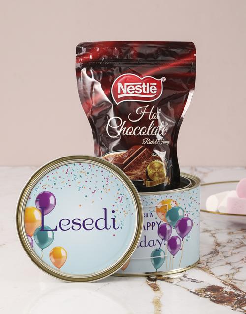personalised: Personalised Birthday Wishes Hot Choc Tin!