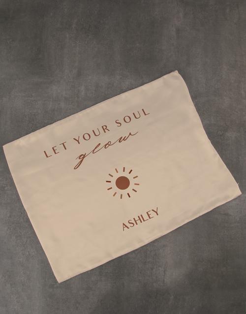 personalised: Personalised Soul Glow Gold Pillowcase!