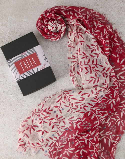 love-and-romance: Personalised Bright Scarf in Box!