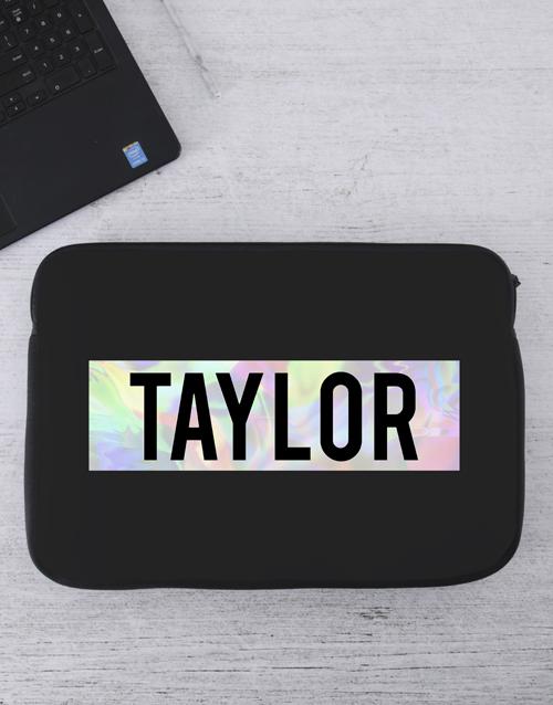 apparel: Personalised Name Laptop Sleeve!