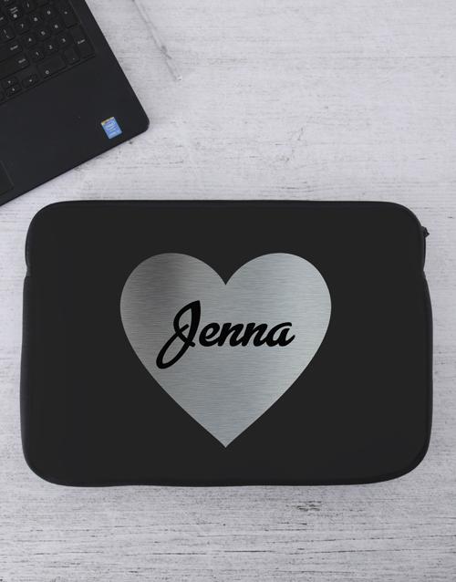 apparel: Personalised Heart Laptop Sleeve!